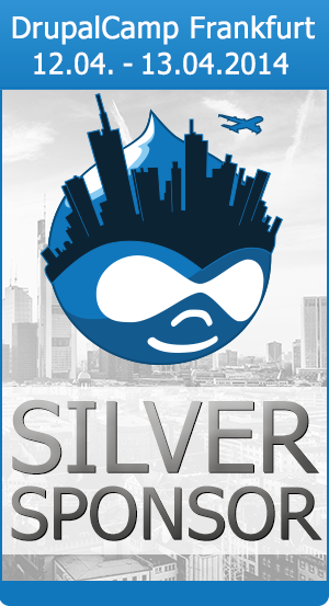 We're Silver Sponsors for the DrupalCamp Frankfurt 2014